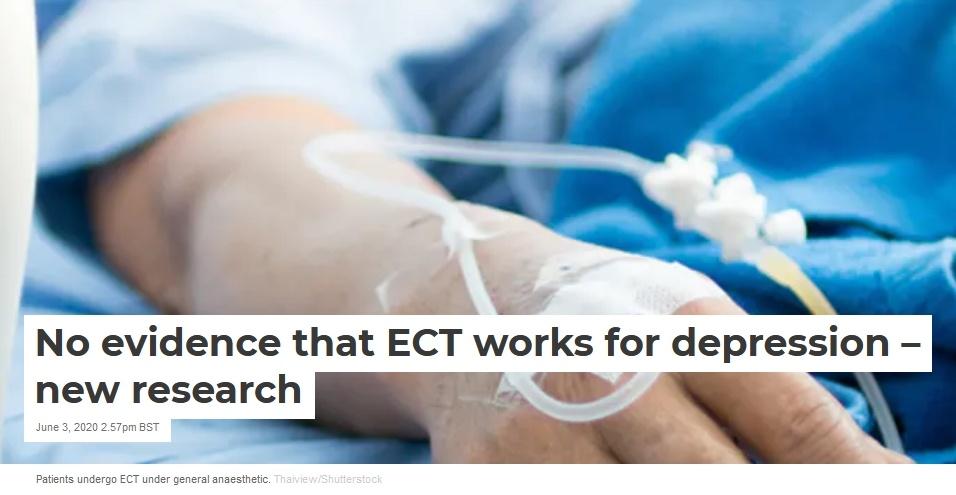 Inga bevis för att ECT fungerar vid depression - ny forskning